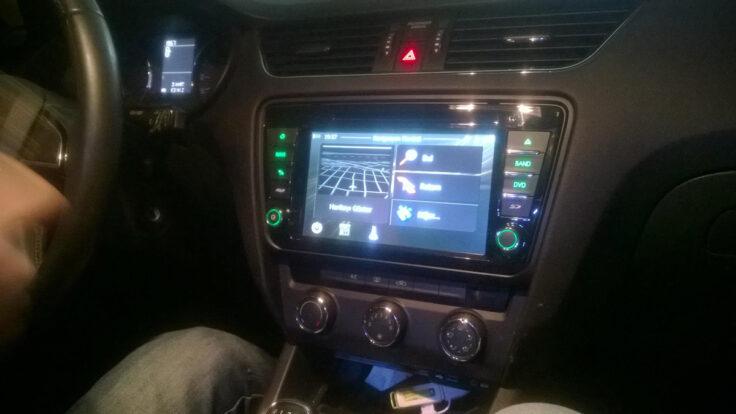 Yeni Skoda Octavia navigasyon multimedya cihazı