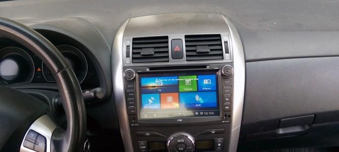 Toyota Corolla navigasyon multimedya sistemi